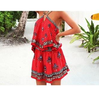 jumpsuit summer dress love belt dress red dress