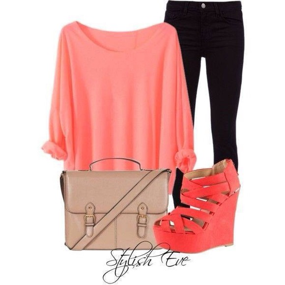 pink shirt loose fit sweater vibrant