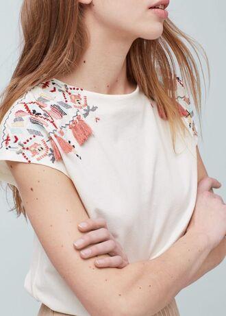 t-shirt embroidered t shirt white t-shirt embroidered embroidered t-shirt
