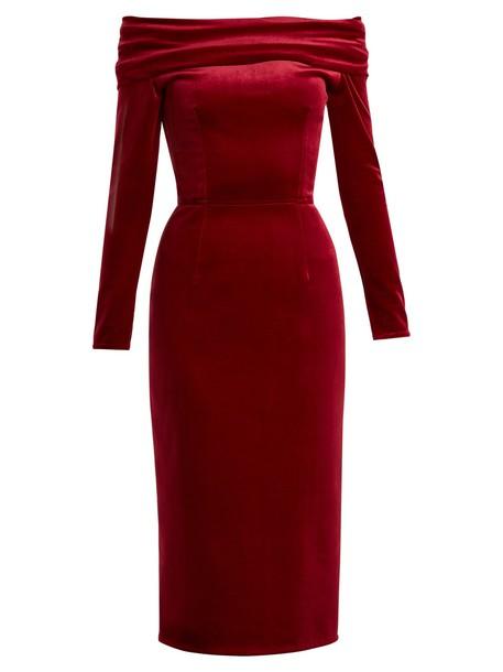 Emilio De La Morena dress midi dress midi velvet red