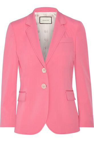 blazer silk wool jacket