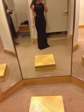 dress black dress long dress bodycon dress