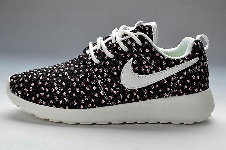 QV076 Nike Roshe Run FB In Black Jade Flower (W) [NRRFBW06] - £45.50 :