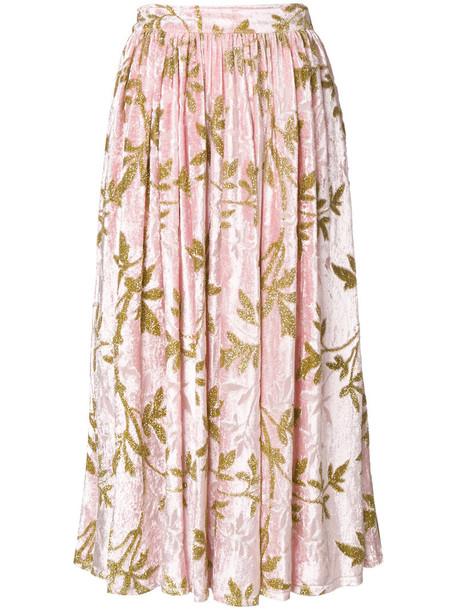 skirt midi skirt women midi silk purple pink
