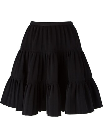 skirt women spandex cotton black