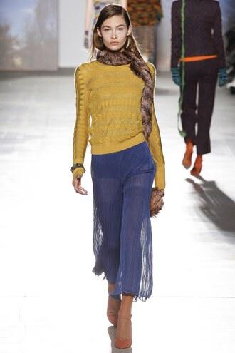skirt missoni sweater runway milan fashion week 2017 fashion week 2017