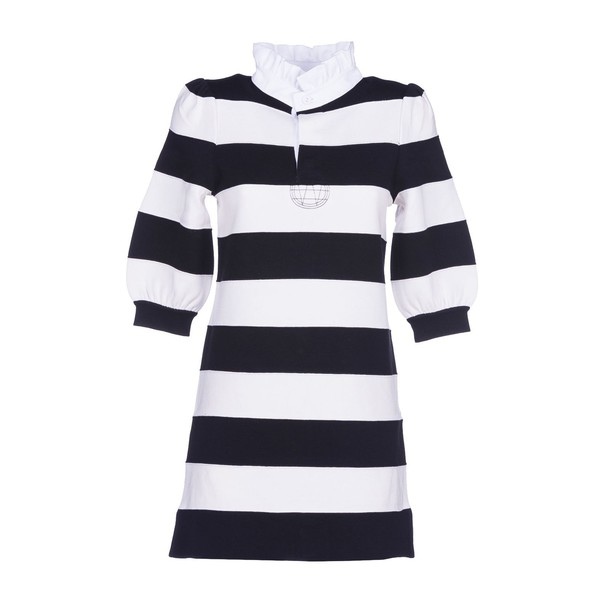 Marc Jacobs dress stripes white black