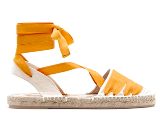 shoes orange espadrilles