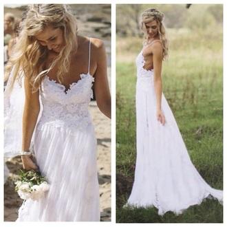 dress prom dress wedding dress prom white dress ivory dress spets long prom dress long dress
