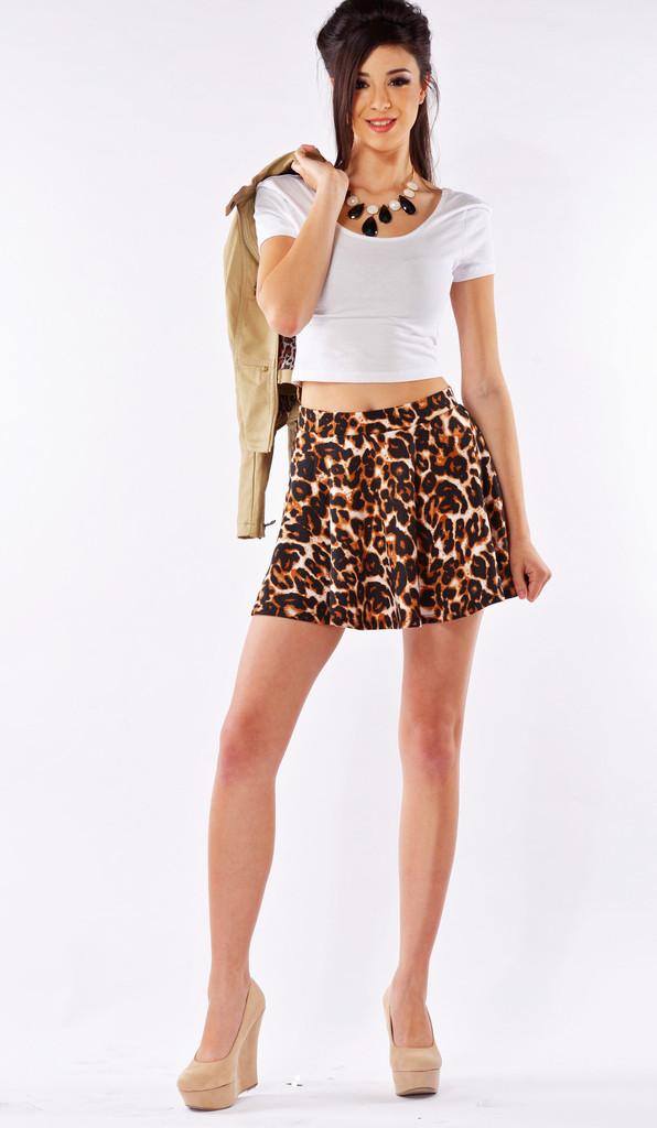 Cheetah Skater Skirt | Affordable Junior Clothing & Plus Sized Dresses | Shimmer