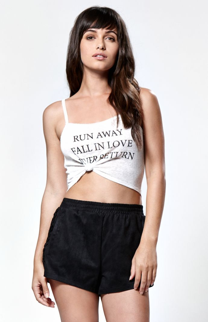 Kendall & Kylie Tie Front Cami Tank Top at PacSun.com