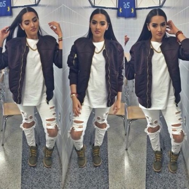jeans white jeans home accessory coat shoes white ripped jeans pants jacket