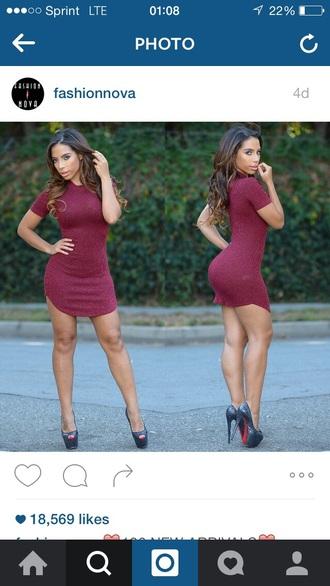 dress high heels burgundy burgundy dress short dress mini dress sexy dress