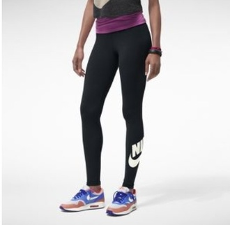 nike nike leggings workout workout leggings black white pants nike sportswear nike pro leggings leggings black nike