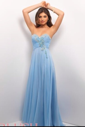 dress blue blue dress sky blue pretty blue gown prom prom dress long long blue dress sparkle shiny long blue dress with sparkles