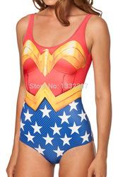 Online shop super cool factory spring 2014 new sexy bikini piece swimsuit beach wear wonder woman cape suit without cloak swimwear women
