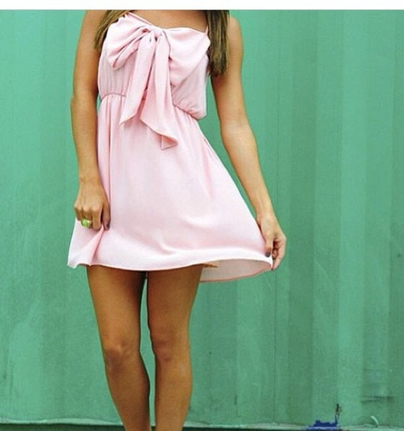 dress pink cute girly girl summer pretty short dress beautiful