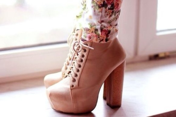 shoes jeffrey campbell high heels sea of shoes beige high heels platform platform shoes cute high heels