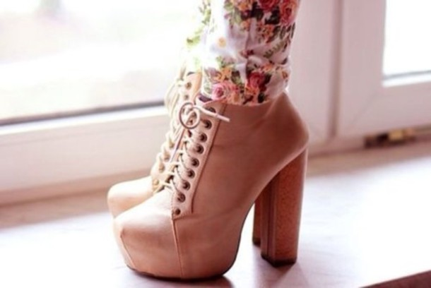 Shoes: high heels, jeffrey campbell, heels, beige high heels ...