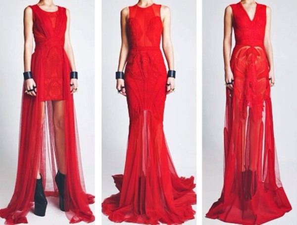 dress red dress cute red prom dress prom long dress long sequins mesh tight short