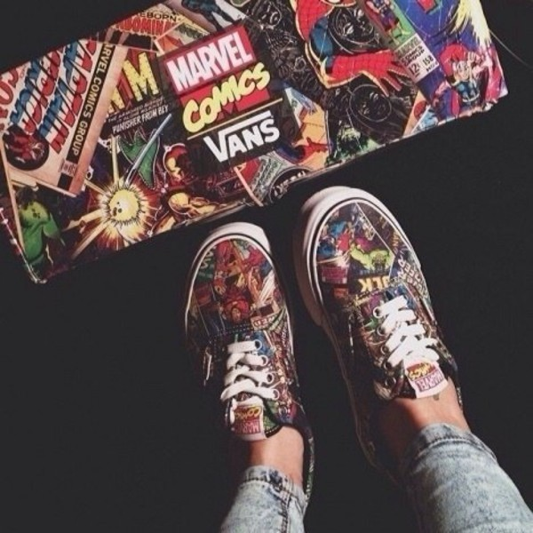 vans marvel vans marvel comics comics girl marvel comics shoes
