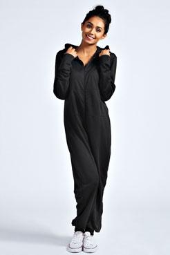 Effie plain one colour hooded onesie at boohoo.com
