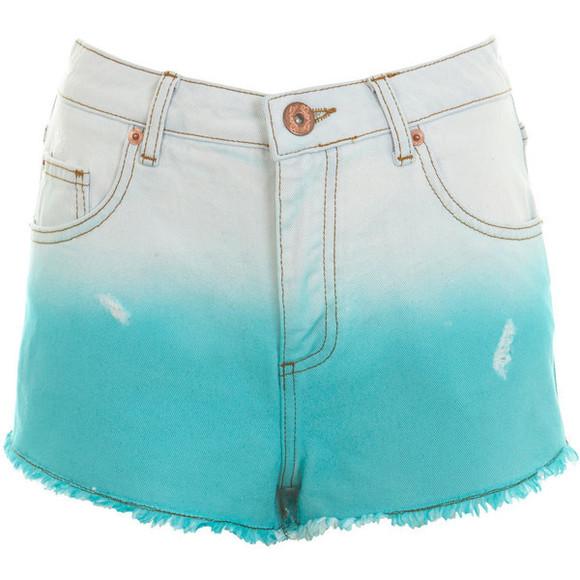 tie-dye shorts neon ombre