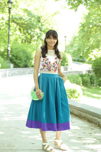 city laundry blogger top skirt shoes bag