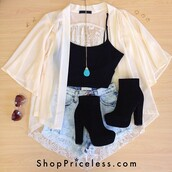shorts,ripped shorts,denim shorts,shoes,jacket,jewels,shirt,top,tank top,high heels,necklace,black,blue,blouse,white,short,jeans,dentelle,jewelry,coat,white sheer blouse,cream,black heels,cardigan,lace,rock,mousseline,boots,heels,chelsea boots,chunky heels,suede boots,ankle boots,soft grunge,hipster,grunge,crop,crop tops,black shoes,booties,suede,chunky,kimono,90s style,sweater,black crop top,style,summer,sprint,lace cardigan,summer top,cute shirt,washed-out,vintage,outfit,white blouse,blak high heels,t-shirt,pretty,indie,tumblr,cute,boho,black shoes high heels beautiful.,sunglasses,black with hugh heells,flowers,skirt,dress,pink,purple,repost,black booties,hat,nude,felt hat