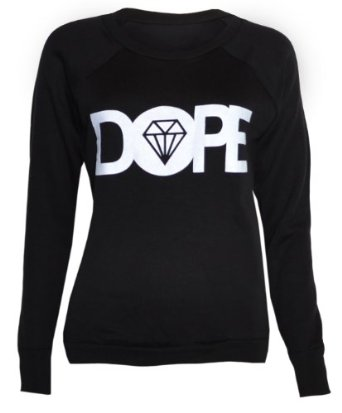 Womens Dope Sweater Jumper Top at Amazon Women?s Clothing store