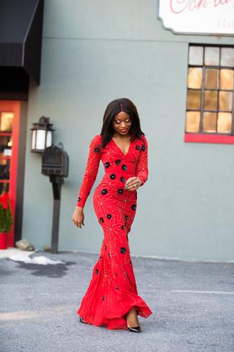 jadore-fashion blogger dress shoes red dress long dress pumps high heel pumps