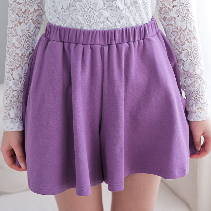 2014 spring women's fresh color solid all match elastic short skirt culottes female-inShorts from Apparel & Accessories on Aliexpress.com