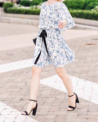 dress tumblr floral floral dress mini dress sandals sandal heels high heel sandals shoes
