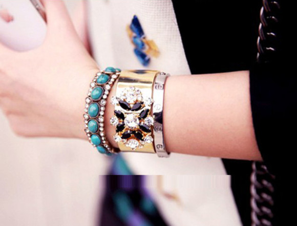 jewels clothes bracelets bangle accessories diamonds rhinestone rhinestone bracelet rhinestone necklace