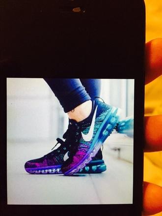shoes purple blue black airmax purple blue black. nike air max nike running shoes nike flyknit