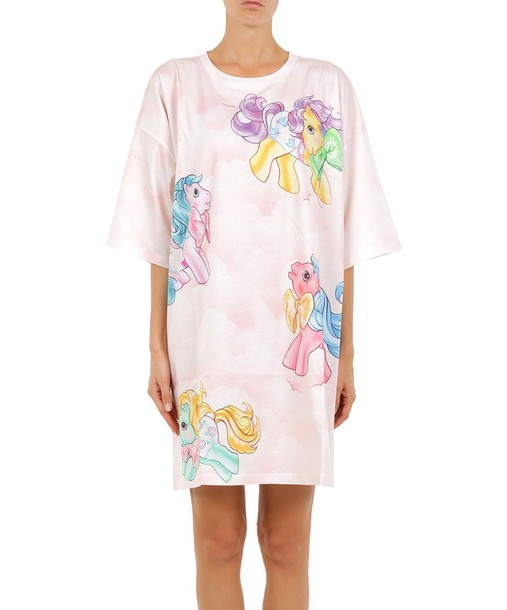 Moschino dress jersey dress oversized cotton multicolor