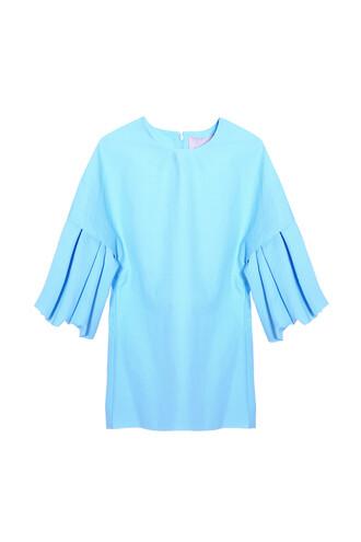 top ruffle blue