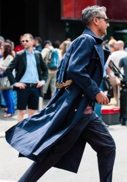 coat navy trench coat