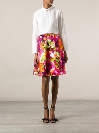 skirt valentino floral skirt a-line skirt