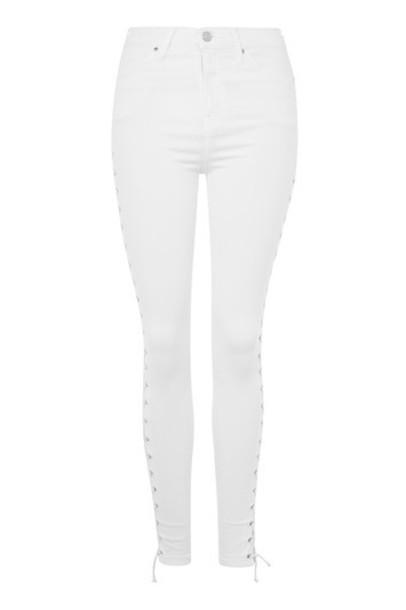 jeans lace white white lace