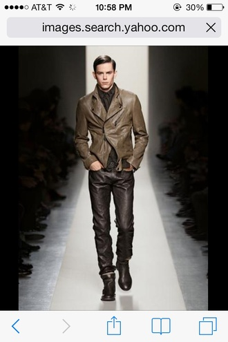 pants leather for men