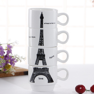 make-up home accessory mug cup eiffel tower