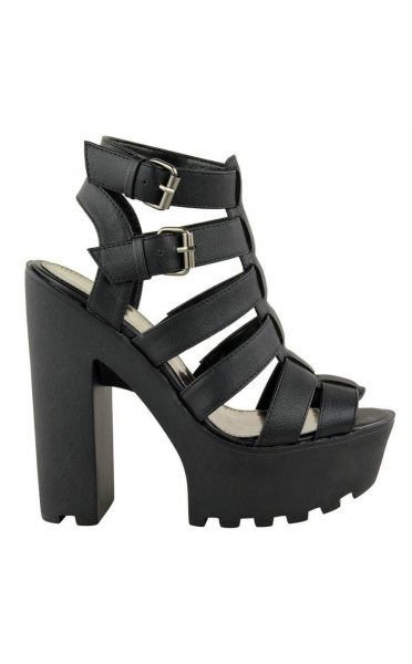 Chunky Black Platform Sandals - from The Fashion Bible UK