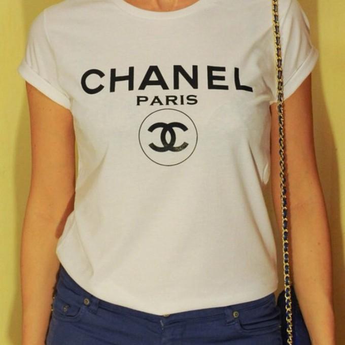 chanel shirt shirt chanel t shirt vogue t shirt chanel. Black Bedroom Furniture Sets. Home Design Ideas