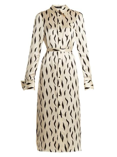 Joseph shirtdress zebra print silk cream dress