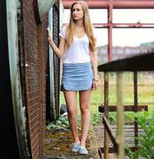 skirt,slit skirt,high waisted denim shorts,a line skirt,double slit skirt,light washed denim
