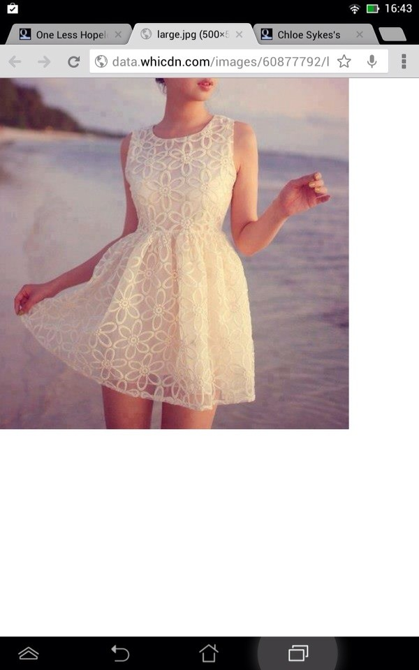 dress white floral lace dress