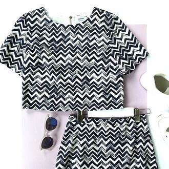 t-shirt zebra tank top crop tops zigzag