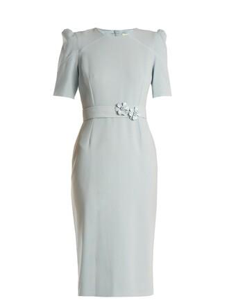 dress embellished wool light blue light blue