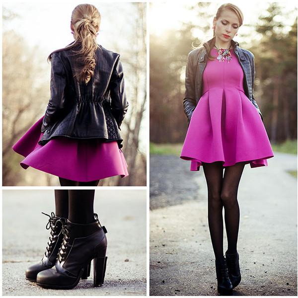 dress pink jacket